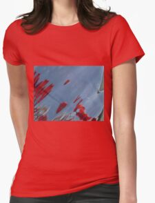 Tulips, Dorothy, Abstract Photography, Raw Image, Refraction through glass Womens Fitted T-Shirt