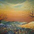 Sunset over Field by Cherie Roe Dirksen