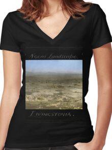 a large Malawi landscape Women's Fitted V-Neck T-Shirt