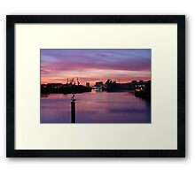 Shipyards, Glasgow  Framed Print