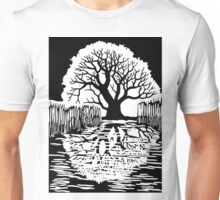 Silhouette of a tree | Mirror image  Unisex T-Shirt