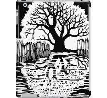 Silhouette of a tree | Mirror image  iPad Case/Skin