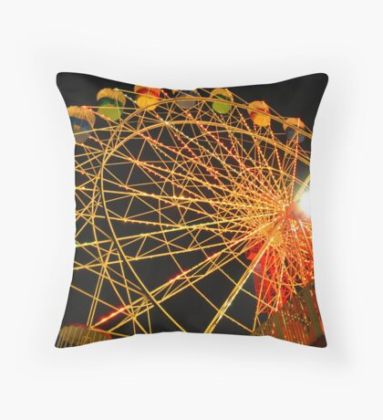 The Magic of the Carnival: Wheel of Light Throw Pillow