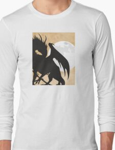 Tolkien - Smaug - Dragon against the Moon Long Sleeve T-Shirt