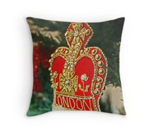 Christmas - London Throw Pillow