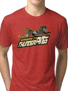 Sunnyshore City Thunder Fangs: Luxray Sports Logo Tri-blend T-Shirt