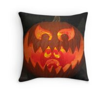 """Hungry Jack O' Lantern"" Throw Pillow"