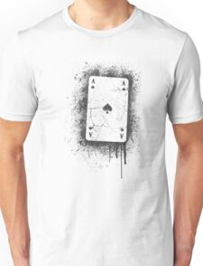 Ace of Spades Cracked Unisex T-Shirt