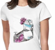 Flowers & Mason Jar Womens Fitted T-Shirt