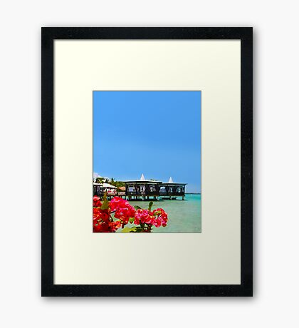 Postcard from Tahiti - Eden on Earth Framed Print