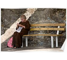 Knitting Bench Poster