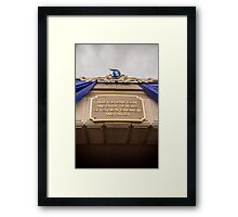 Diamond Celebration - Leave Today Framed Print