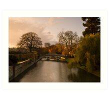 Morning light in Cambridge Art Print