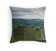 St Chad's churchyard and Nidderdale Throw Pillow
