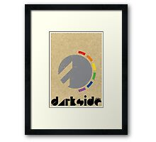 Darkside Abstraction Framed Print