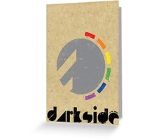 Darkside Abstraction Greeting Card