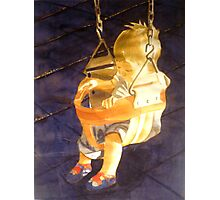 Swing : Leo, watercolor on paper Photographic Print