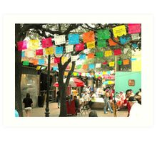 Cinco de Mayo Celebration at Market Square (El Mercado) in San Antonio Art Print