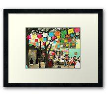 Cinco de Mayo Celebration at Market Square (El Mercado) in San Antonio Framed Print