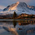 The Applecross Hills reflected in Loch Kishorn, North West Scotland. by photosecosse /barbara jones