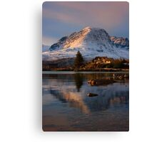 The Applecross Hills reflected in Loch Kishorn, North West Scotland. Canvas Print