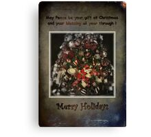 Merry Holidays Canvas Print