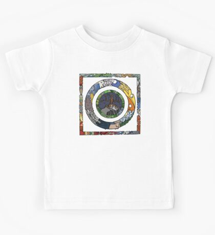 Square and Circle Mandala - COLOURED Kids Clothes