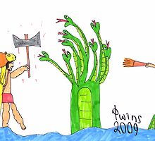 Hercules and the Lernaean Hydra by Fotis