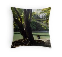 By the waters edge--Northern Greece Throw Pillow