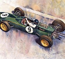 Lotus 25 F1 Jim Clark Monaco GP 1963 by Yuriy Shevchuk