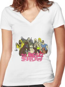 big lez show Women's Fitted V-Neck T-Shirt