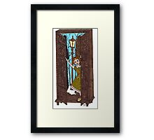 Lucy in the Wardrobe Framed Print