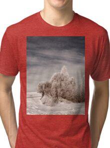 a sprawling Latvia landscape Tri-blend T-Shirt