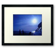 voyage Thru Blue Framed Print