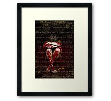 Sticks and Stones may Break my Bones but Words........ Framed Print