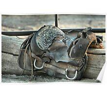 Retired Saddle Poster