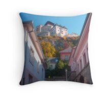 Castle-fortress Throw Pillow