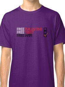 Free Palestine, Free Tibet, Free Wi-fi Classic T-Shirt
