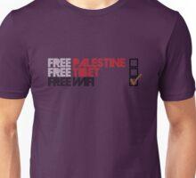 Free Palestine, Free Tibet, Free Wi-fi Unisex T-Shirt
