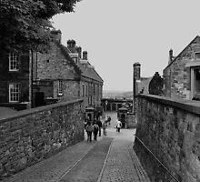 Inside the grounds of Edinburgh Castle. by Finbarr Reilly