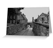 Inside the grounds of Edinburgh Castle. Greeting Card