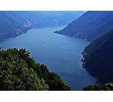 Lake Como from Pigra Photographic Print