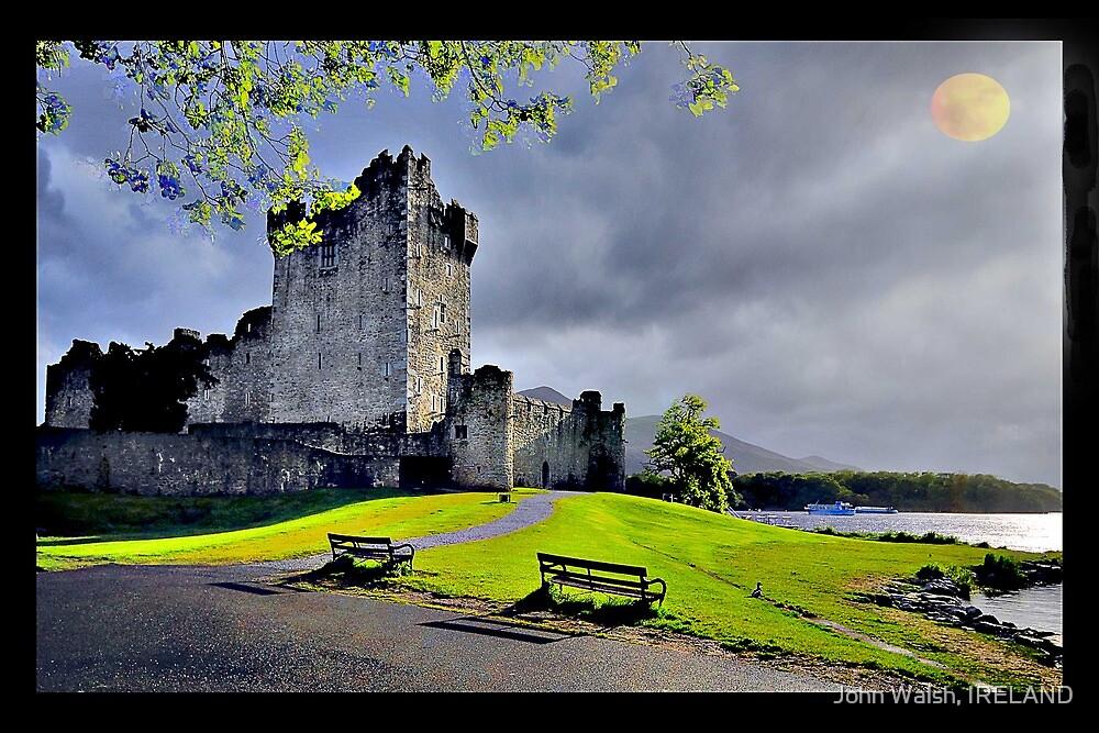 Moon over Ross Castle by John Walsh, IRELAND
