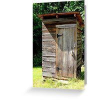 Wooden Out House Greeting Card