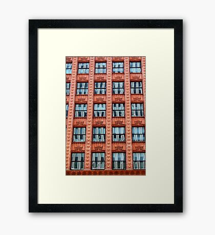 Reflections in Terra Cotta Framed Print