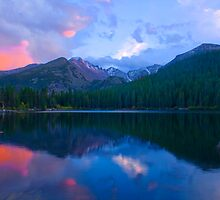 Longs Peak Sunset Above Bear Lake  by Paul Gana