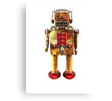Vintage Robot 2 T-Shirt Canvas Print