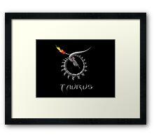 Cyborg Taurus Zodiac Framed Print