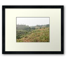 a historic Cameroon landscape Framed Print