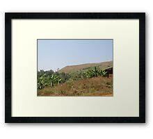 an incredible Cameroon landscape Framed Print